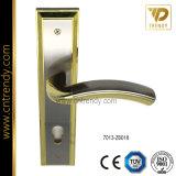 Ручки защелки рукоятки двери ванной комнаты цинка фиксируя с плитой (7031-z6012)