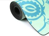 Estera de goma de la yoga de Microfiber del diseño de la mandala única del loto