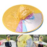 新しいレインコート屋外釣ゴルフ子供の大人のレインコートカバー透過傘S/M/Lの傘の子供のHeadwearの帽子の帽子