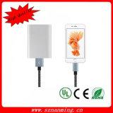 Blitz-Kabel umsponnene iPhone Nylonaufladeeinheit