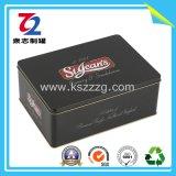 Черная прямоугольная жестяная коробка для конфеты