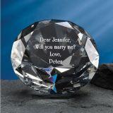 Горячий продавая диамант кристаллический стекла с печатание логоса лазера