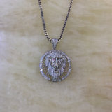 De bevroren uit Halsband Mjhp156 van de Tegenhanger van de Leeuw van de Mannelijke Douane Gouden