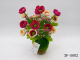 Plástico/Artificial/Amapola flor de seda Bush (XF-S002)