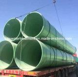 Pipe de processus composée de fibre de verre de polyester de Dn25-4000mm FRP GRP