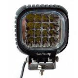 CREE 40W 5 luz brillante estupenda de conducción campo a través de la niebla de la lámpara 10-30V LED del trabajo del cuadrado LED de la pulgada