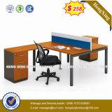 Muebles de aluminio L partición de la oficina del sitio de trabajo de la dimensión de una variable (HX-8N0462)