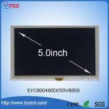 """5.0 """" Zoll TFT 800*480 mit kapazitiver Touch Screen LCD-Bildschirmanzeige-Baugruppe"""