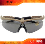 Vetri protettivi UV della fucilazione di visione notturna degli alti occhiali da sole militari tattici a prova di proiettile di visione