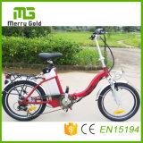 La Chine E fait du vélo 36V 250W Ebikes avec la bicyclette électrique de batterie au lithium avec '' frein à disque d'E-Bicyclette de pouce 20