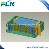 """광섬유 19 """" 선반 마운트 패치 패널 서랍 유형 ODF 48 섬유"""