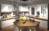 Armário moderno da mobília da cozinha da madeira contínua dos gabinetes do MDF
