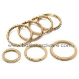 Gold überzog Stahlsprung-aufgeteilten Ring