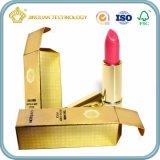Casella impaccante di carta del balsamo di orlo del cartone dell'oro (contenitore impaccante di rossetto)