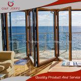 Het houten Kijken de Buiten Vouwende Deur van het Aluminium voor het Gebruik van het Balkon