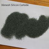 Grüner und schwarzer Silikon-Karbid-/Karborundum-Sand-Partikel