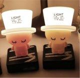 Lindo creativo sensible de silicona LED de luz de noche para niños