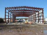 El bastidor de la luz de la estructura de acero de construcción del taller