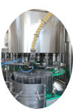 Das kleine abgefüllte trinkende Mineralwasser beenden, das die Verpackung des Produktionszweiges beschriftend füllt