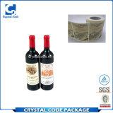 Etiqueta autoadhesiva auta-adhesivo de encargo del vino para la botella