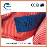 Imbracatura rotonda piana 100% dell'imbracatura di sollevamento dell'imbracatura della tessitura del poliestere per alzare