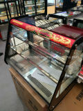 ガラスドアの冬に暖まる熱い食糧のための商業デリカテッセンのショーケース