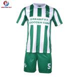 Mejor vender la fábrica China de OEM personalizada Thail Verde un conjunto uniforme de fútbol