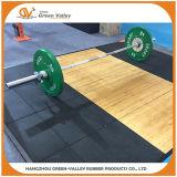 Choquer-Réduisant le caoutchouc couvre de tuiles les couvre-tapis en caoutchouc pour des matériels de Weightlifting de gymnastique