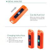 USB brillante linterna llavero linterna LED recargable luz