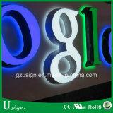 Акрилового пластика изготовлен из алюминия 3D Front-Lit светодиод светится подписать неоновыми подписать письмо каналов