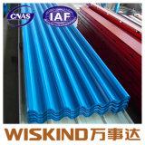 PPGI única folha de aço corrugado para Telhas de metal com ISO9001