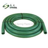 Effacer le flexible d'aspiration de l'eau transparent en PVC flexible de vidange du flexible de décharge