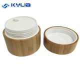 Personnaliser la forme ronde 30g vides en bois de Bambou cosmétiques Jar avec doublure en plastique