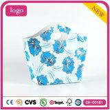 Bolsa de papel revestida del regalo de la flor del arte azul de la manera