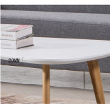 White Color Nesting Tea Table with 4 Wooden Legs
