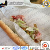 El Hamburger Sandwich grasa se resisten a violarla con impresiones de papel