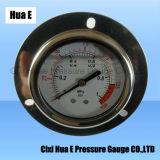 Connexion arrière 2.5inches avec remplis d'huile à bride en acier inoxydable de compteur de pression