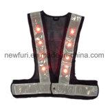 Maglia riflettente infiammante all'ingrosso di sicurezza della maglia della fabbrica LED