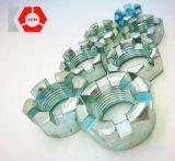 Haute qualité les écrous à créneaux ronde DIN 935