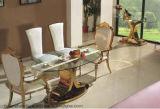 Eettafel van het Meubilair van de eetkamer de Moderne Ovale Ronde Hoogste die met Marmer wordt geplaatst
