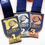Medallones suaves de encargo de la medalla del emparejamiento de baloncesto del oro del esmalte para la venta