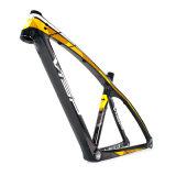 Interno tutta la pagina della bicicletta di Mountian MTB del carbonio di percorso di cavo 27.5er
