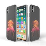 Caisse molle de téléphone de TPU IMD pour l'iPhone X avec l'impression