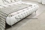 木フレームが付いているイギリスの現代寝室セットの革ベッド
