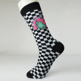 Lustige Raute-Socken-Qualitäts-Kleid-Großhandelssocken