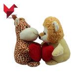 Hotsale 연약한 견면 벨벳 동물성 장난감 지라프 및 사자