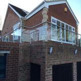ステンレス鋼の屋外のガラス柵