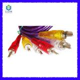 3RCA-3RCA transparante Kabel