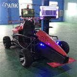 Simulatore Vr di realtà virtuale che guida le macchine del gioco dell'automobile
