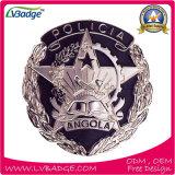 カスタマイズされた役人の金によってめっきされる金属の警察のバッジ